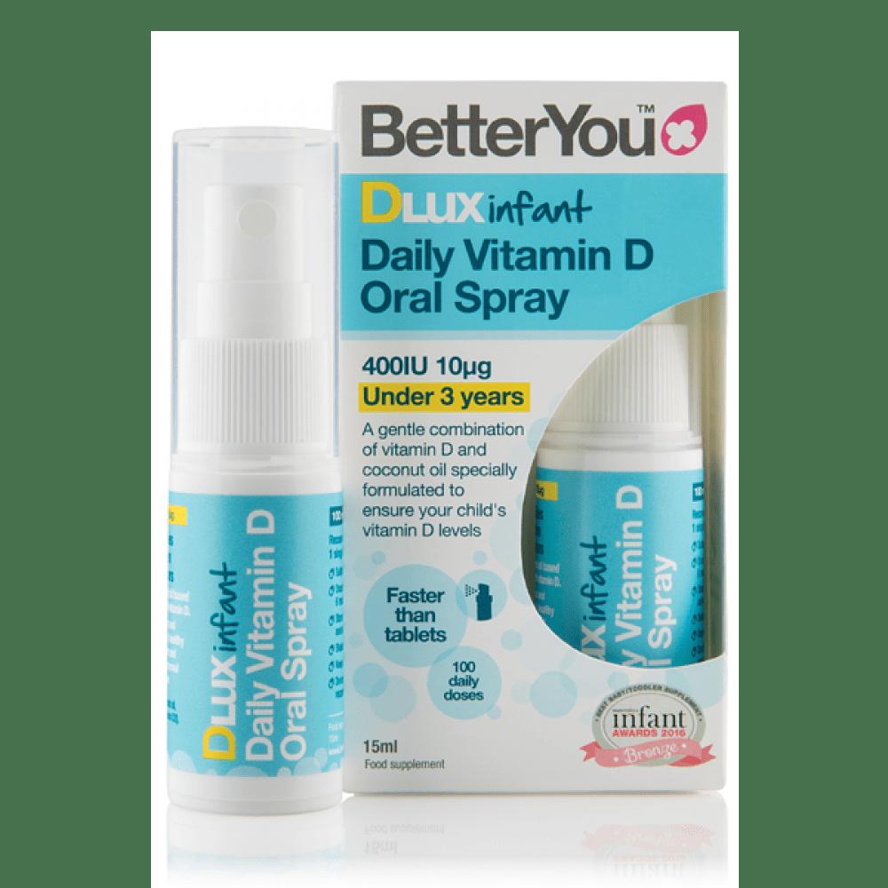 BetterYou DLux - Infant vitamin D v spreju 400IU, 15ml