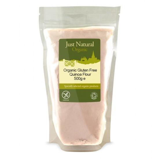 Just Natural Bio kvinojina brezglutenska moka, 500g