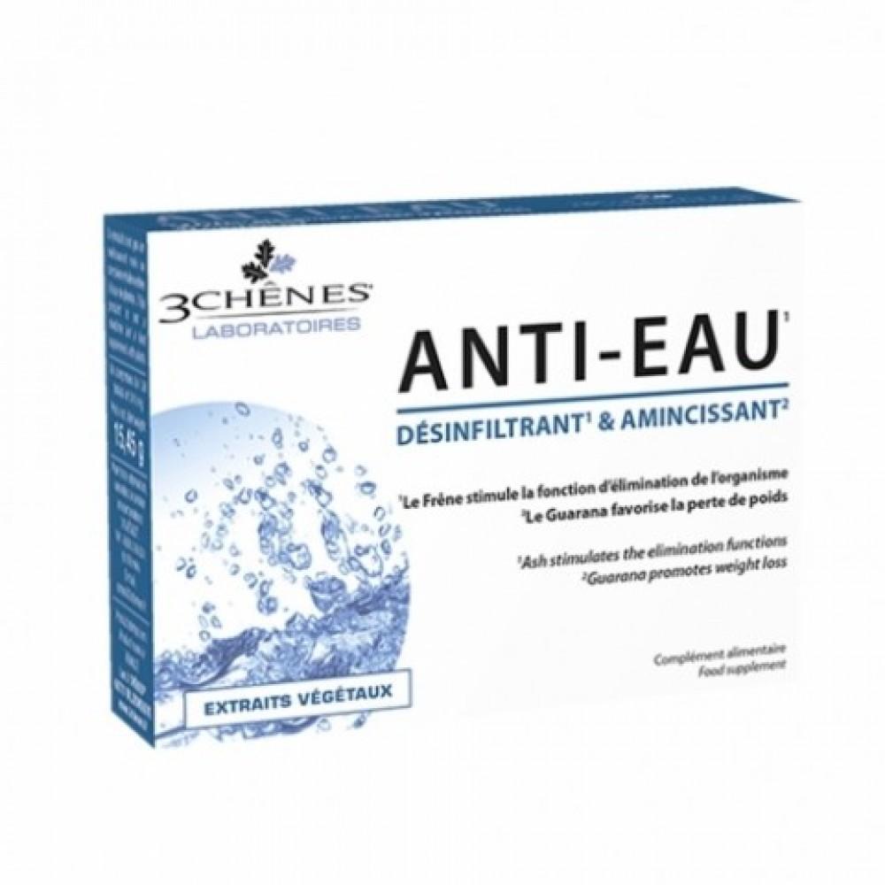 Anti-eau, prehransko dopolnilo za odvajanje prekomernega zastajanja vode, 30 tablet