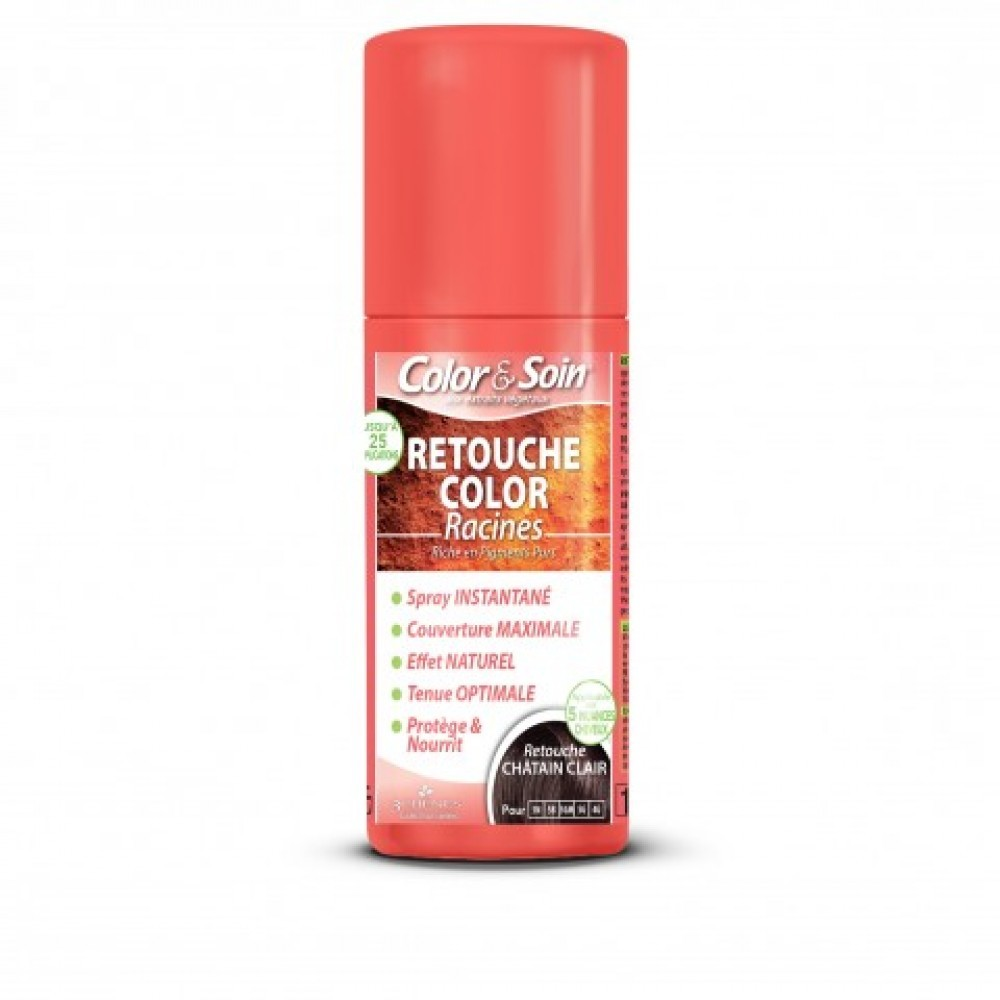 Color&Soin RETOUCHE razpršilo za prekrivanje narastka / SVETLO KOSTANJEVA