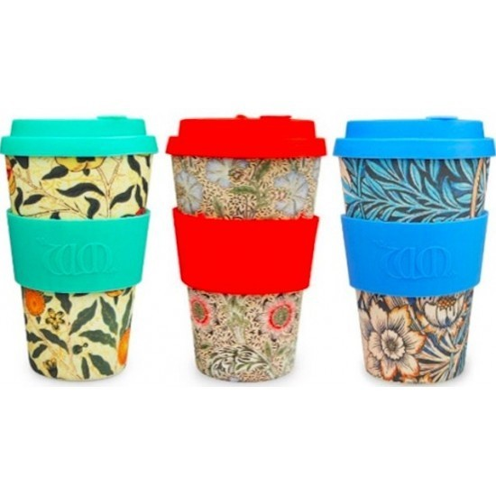 Ecoffee cup Lonček za napitke - William Morris, 400ml