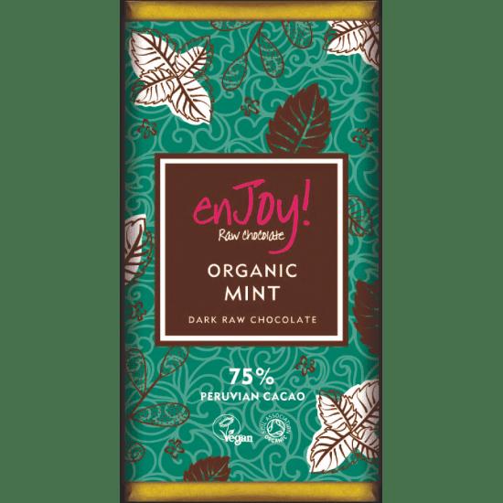 Enjoy! Presna organska čokolada z meto, 80g