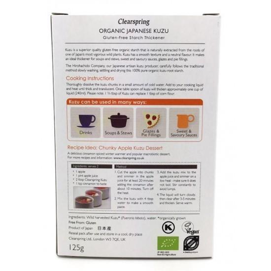 Clearspring Kuzu - naravno gostilo brez glutena, 125 g