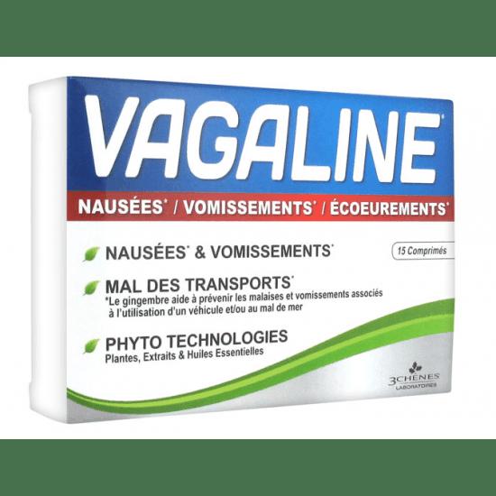 VAGALINE pri slabosti in bruhanju, 15 tablet